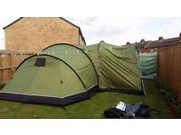 Tent suncamp 800 exclusive tent with footprint carpet and awning new