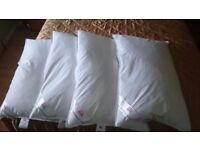 4 Luxury Duck Feather Pillows