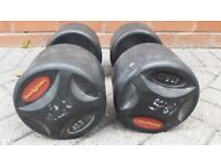 2 x 42.5KG BODYMAX DUMBBELL WEIGHTS SET