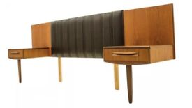 G Plan Fresco Range Danish Teak Kingsize Headboard by VB Wilkins Vintage Retro Mid-century 1960s