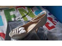 Sparkling white wedding shoes brand new