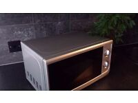 Silver Microwave (17L) - Hardly used