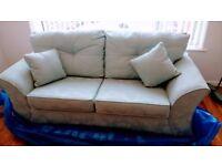 brand new duck egg blue sofa