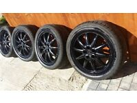 17 inch multi spoke alloys with tyres.all tyres have more than 6mm tread