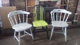 Set of three chairs.