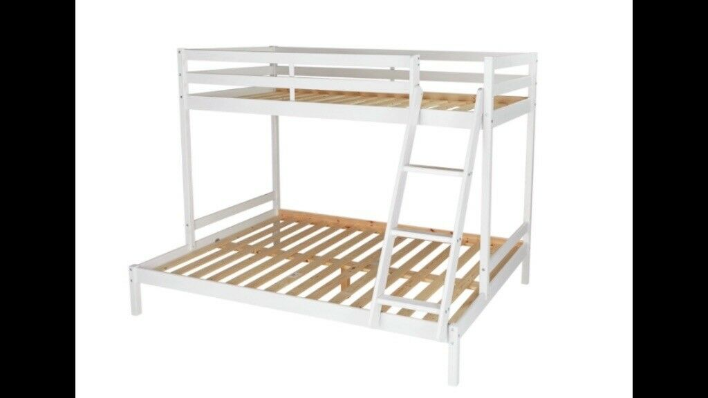 White Wood Triple Sleeper Bunk Bed In Llanrumney Cardiff Gumtree