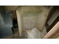 Heat Resistant Concrete Fire Back