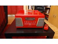 Red Roxy 2 Record Player/CD Player/MP3 Player/Radio For Sale
