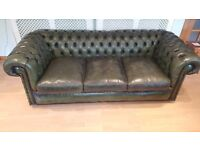 3 piece Chesterfield Suite in Antique Green