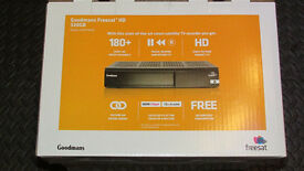 NEW & UNUSED GOODMANS FREESAT + HD RECORDER WITH INTERNAL 320GB HARD DRIVE (180+ FREE CHANNELS)
