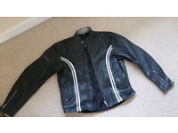 Ladies Leather Quality Hein Gericke Motor Bike Jacket Size 14-16 Chester