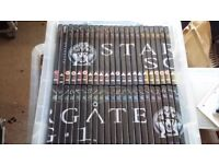 Complete Stargate SG-1 and Stargate Atlantis DVD collection with magazines. PLUS the films