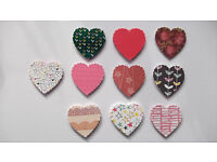 100 small hearts