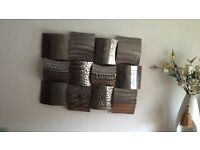 Metal wall art silver dunelm
