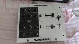 NUMARK M101 mixing desk and other DJ bits