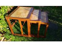 Vintage Mid Century Teak Nest of Tables