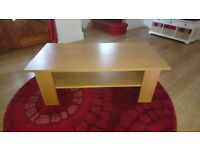 Oak coffee table from Ikea. Excellent condition.