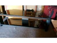 """Beautiful TV Stand up 50"""" Tv's with Glass Top and Dark Oak Trim RRP £400"""