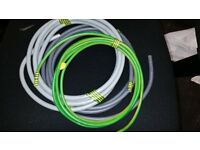 25mm Meter loops 1 x grey brown 1 x grey blue & 1 x 16mm2 green yellow earth cable
