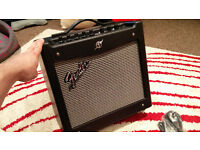 Fender Mustang 1 v2, 20watt guitar practice amplifier, mint