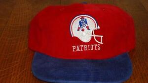 New England Patriots corduroy snap-back cap