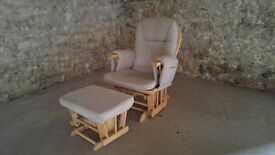Hauck Baby nursing / feeding chair and footstool