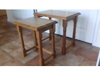 Solid Wooden Pine Nest of Tables