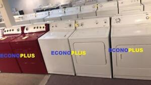 ECONOPLUS  LIQUIDATION LE PLUS GRAND CHOIX D' ENSEMBLE LAVEUSE SECHEUSE À PARTIR 349.99 TAXES INCLUSES