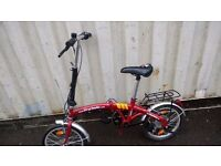 SMALL BIKE FOLDING BIKE 6 SPEED AVAILABLE FOR SALE