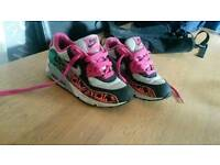 Girls nike air max trainers size 1