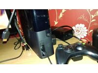 Xbox 360 console with 10 games