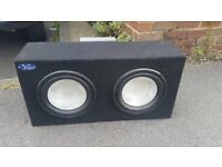 Bass box with amp