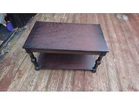Solid dark wooden coffee table