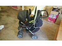 Graco travel system push chair car seat carry cot.