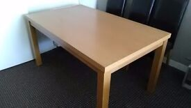 """Oak dining table. 59"""" x 35"""". Timperley area must collect. Good condition"""