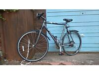 large trek hybrid bike adjustable front suspension fast mountain cycle 25 inch large works perfect