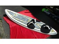 JP 105 Freestyle windsurf board with skews, rig, accessories...
