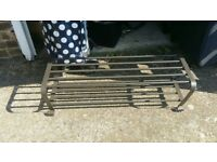 1 X METAL IKEA BROWN/BLACK SHOE RACK ( I HAVE 2 OF THESE AVAILABLE)