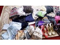 Boot sale items - clothes shoes bags household