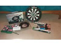 Unicorn Dart Board, Roulette Set & Cluedo.