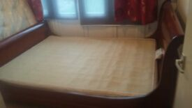 American king size sleigh bed