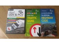 Lgv & pcv theory and hazard perception tests,traffic signs,highway code