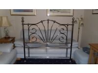 "Aluminium tubular King Size bed-head, in ""Old Bronze"" effect in showroom condition"
