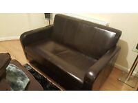 Small Brown Sofa Good Condition