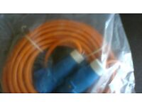 Electric hook up cable for caravan or motorhome