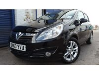 2010 VAUXHALL CORSA 1.4SXI BLACK LOW MILEAGE 28K NEW MOT FULL SERVICE IMMACULATE