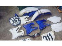 Motocross bars, parts, yz 125/250 plastics not kx rm cr ktm