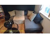 Black & Grey Corner Couch