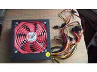 NEW ACE 600W BR PSU Pc Power Supply with 12cm Red Fan Boxed
