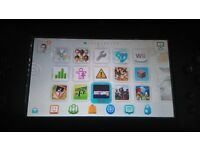 Wii U with 126 games for sale.